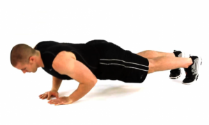 Push-ups with arms together