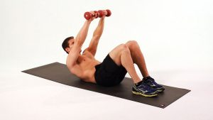DUMBBELL CRUNCHES